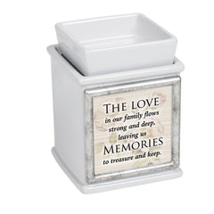 Family Memories Slate Grey Interchangeable Photo Frame Candle Wax Oil Warmer