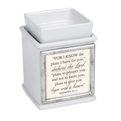 Inspirational Interchangeable Photo Frame Ceramic Slate Grey Candle Wax Oil Warmer