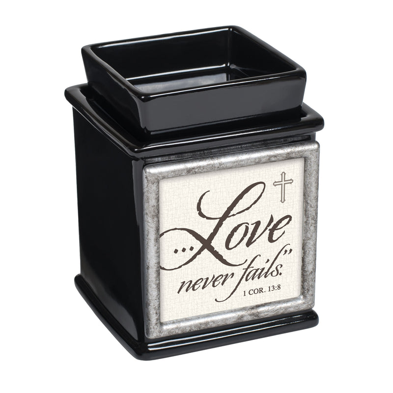 Inspirational Interchangeable Photo Frame Ceramic Glossy Black Candle Wax Oil Warmer