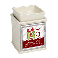 Countdown to Christmas Ceramic Powder Sand Interchangeable Photo Frame Candle Wax Oil Warmer