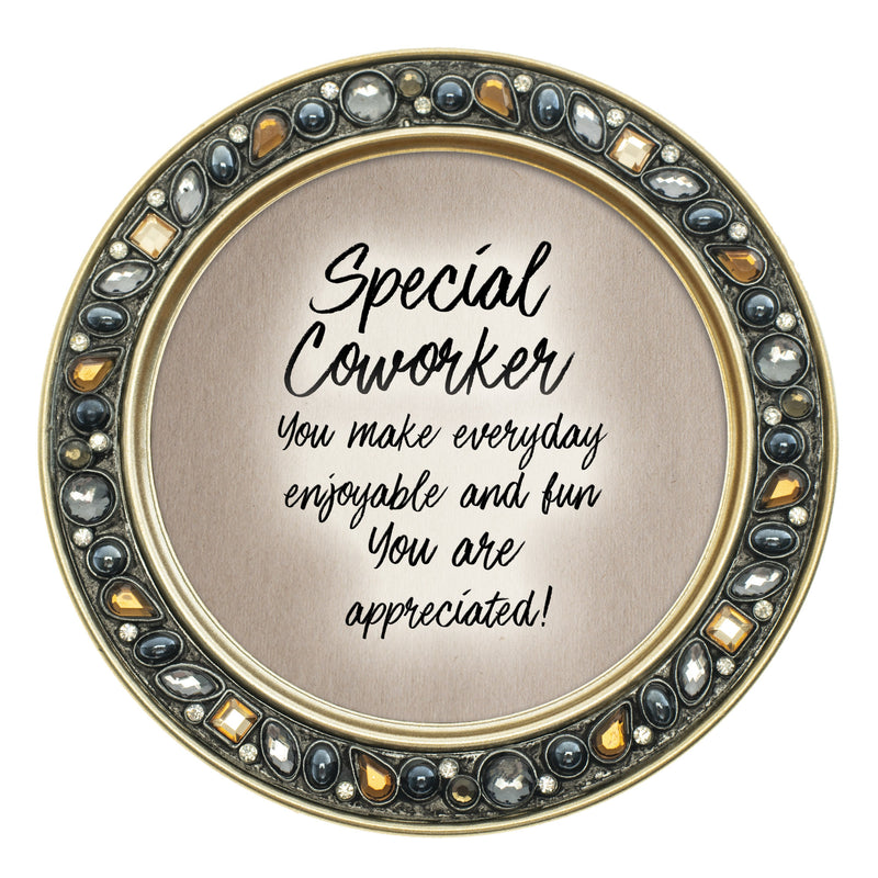Special Coworker You Make Everyday Enjoyable 4.5 Inch Amber Jeweled Coaster Set of 4