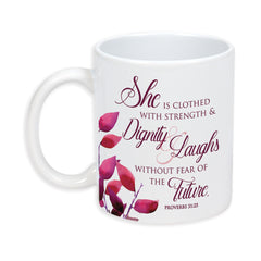 Proverbs 31 Woman 11 Ounce Ceramic Stoneware Coffee Mug