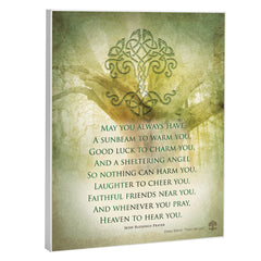 Irish Prayer 8 x 10 Wood Print Overlay Wall Art Sign Plaque