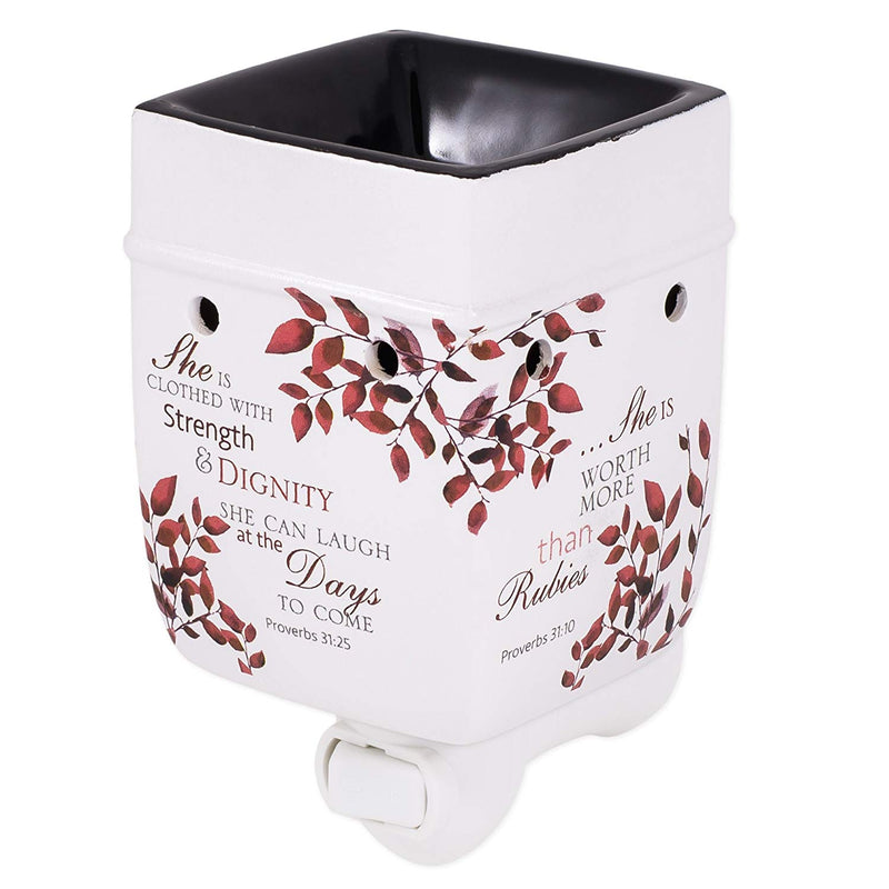 She is More Precious Than Rubies Proverbs 31 Woman Electric Plug-in Outlet Wax and Oil Warmer