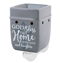 Plug in wax warmer with message