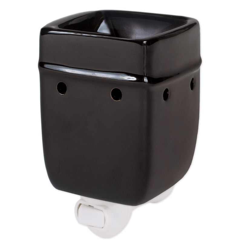 Solid Black Wax Tart Oil Warmer Black Stoneware Electric Plug-In Wax Tart Oil Warmer