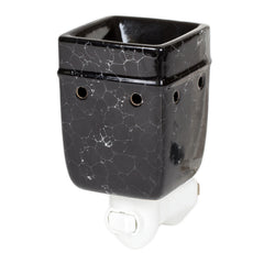Black Marble Electric Ceramic Stoneware Wall Plug-In Warmer