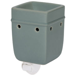 Solid Grey Ceramic Stoneware Wall Plug-In Electric Warmer