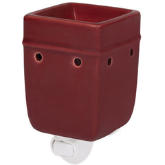 Solid Red Ceramic Stoneware Wall Plug-In Electric Warmer