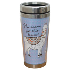 Festive No Drama For This Llama 16 Oz Stainless Steel Travel Mug with Lid