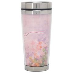Best Grandma Ever Soft Pink and Lavender 16 Ounces Stainless Steel Travel Tumbler