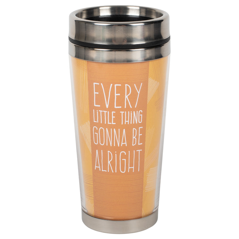Every Little Thing Alright Harvest Orange 16 ounce Stainless Steel Travel Tumbler Mug with Lid