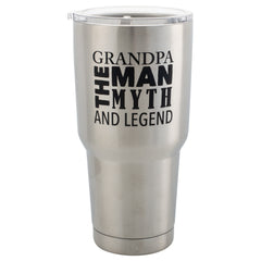 Grandpa, The Man The Myth The Legend 30 Oz Stainless Steel Travel Mug with Lid