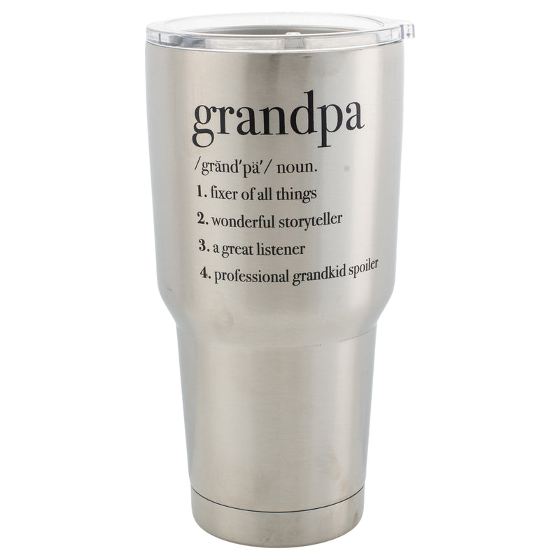 Grandpa Family Definition Jumbo 30 Ounce Stainless Steel Travel Mug with Lid