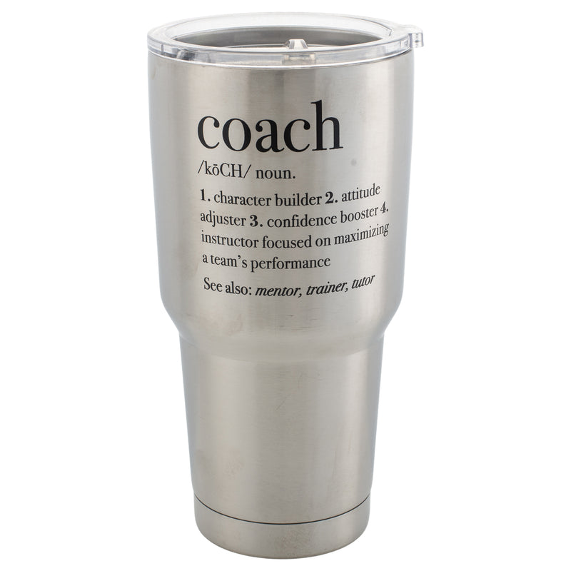 Coach Definition Jumbo 30 Ounce Stainless Steel Travel Mug with Lid