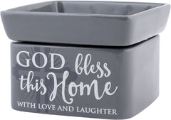 2-in-1 Jar candle warmer with sentiment,