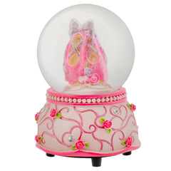 Musical 80MM Water Globe (Pink Rose Ballerina)