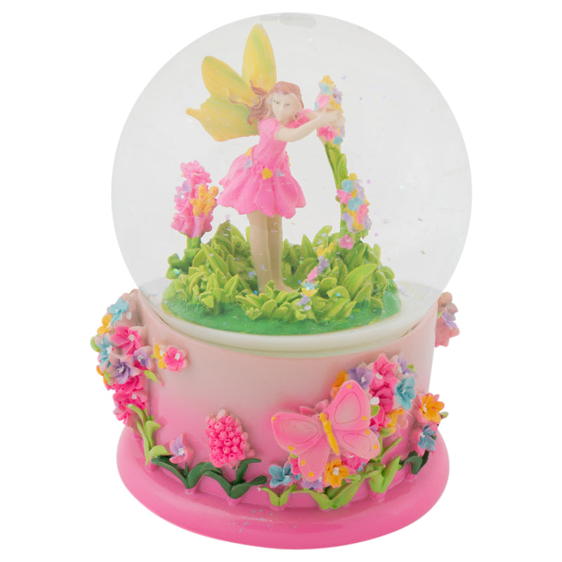 Magical Fairy in Rotating Garden 100MM Musical Water Globe Plays Tune Beautiful Dreamer
