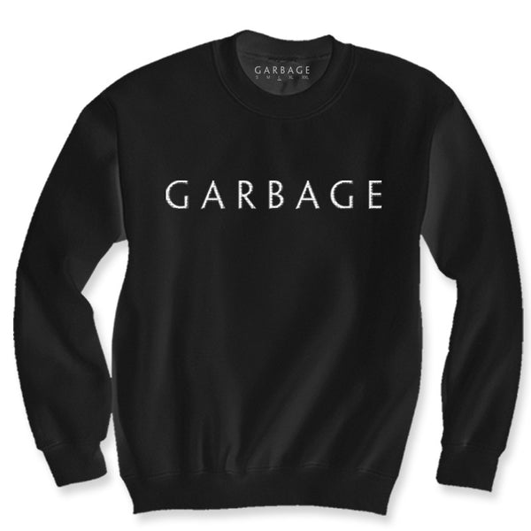 BLACK GARBAGE LOGO EMBROIDERED SWEATER