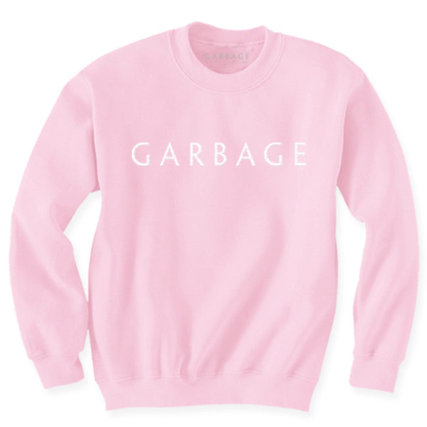PINK GARBAGE LOGO EMBROIDERED SWEATER