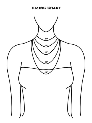 stella grey necklace sizing chart