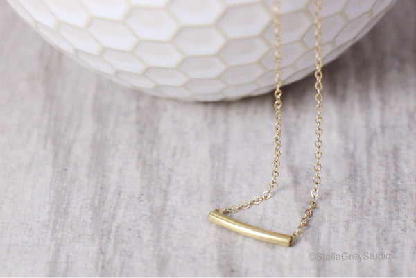 Curved Tube Necklace | Small
