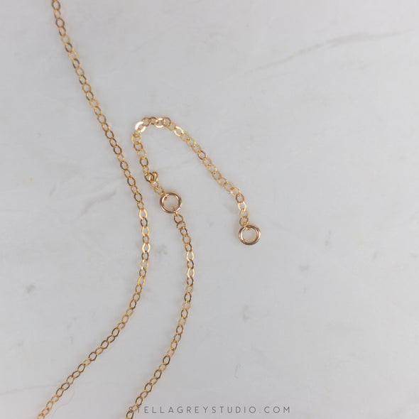 dainty gold necklace extender