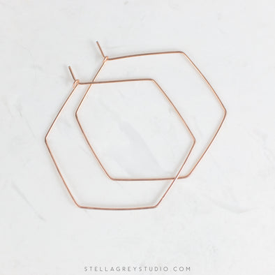 Mia hexagon hoops