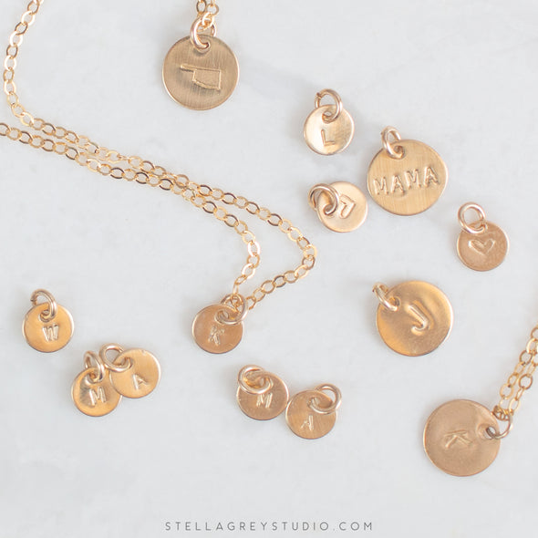 Lylou Personalized Initial Disc Necklace - 6mm