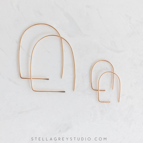 Stella grey jewelry gold earrings