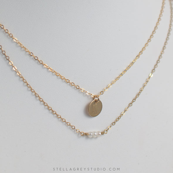 california and pearl gold necklaces