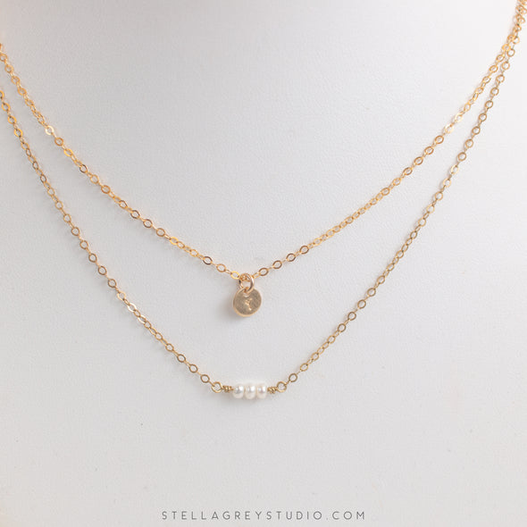 dainty gold layering necklaces