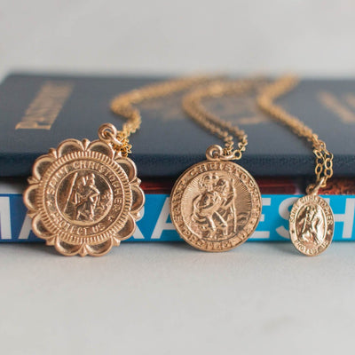Saint Christopher Pendant Necklace | Medium