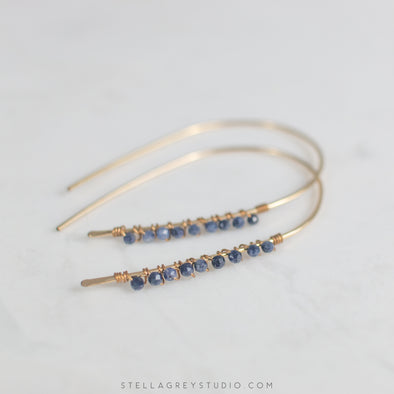 Greta Sapphire Statement Earrings
