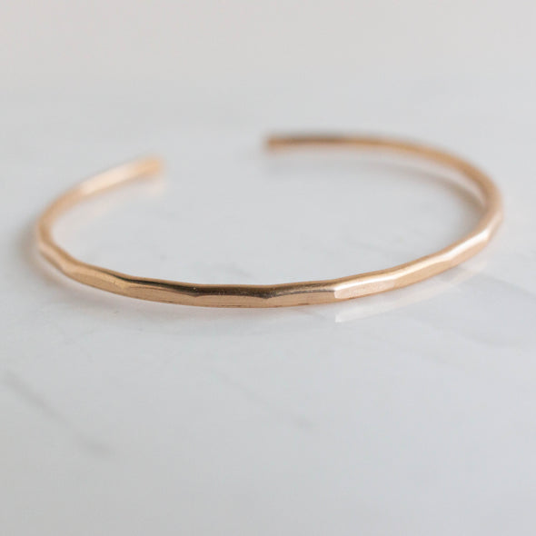 faceted gold filled cuff bracelet