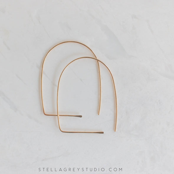 Gold Archway Earrings - Small