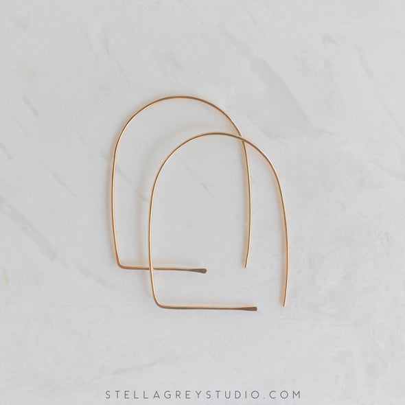 Gold Archway Earrings - Large