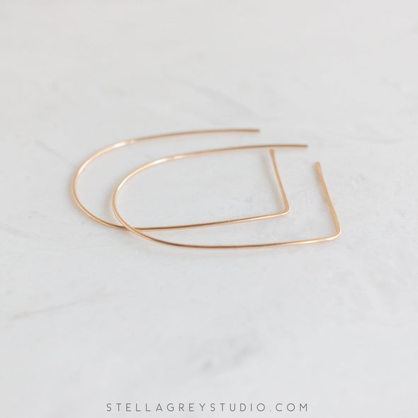 stella grey large gold archeway earrings