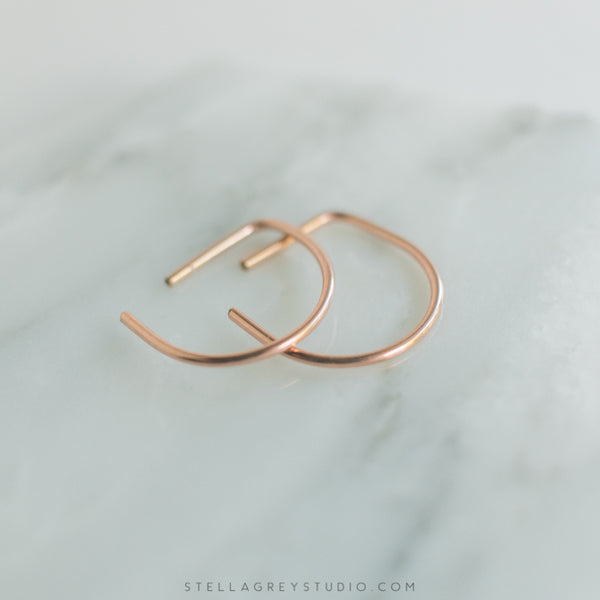 Tiny Minimal Hoop Earrings