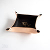 Small Leather Valet Tray | Chocolate
