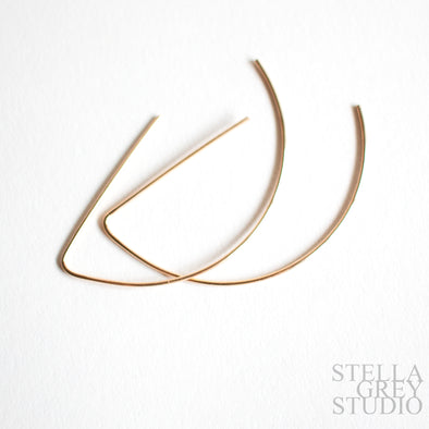 Abstract Half Moon Earrings