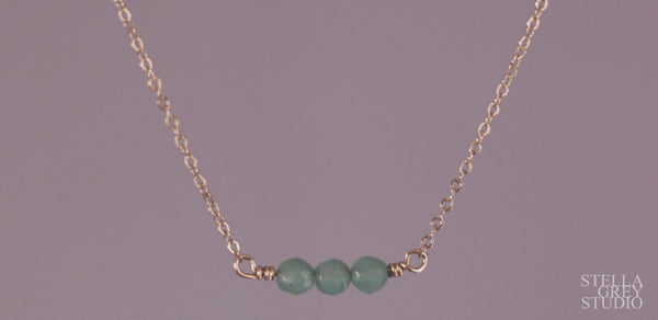 Ava mini gemstone necklace