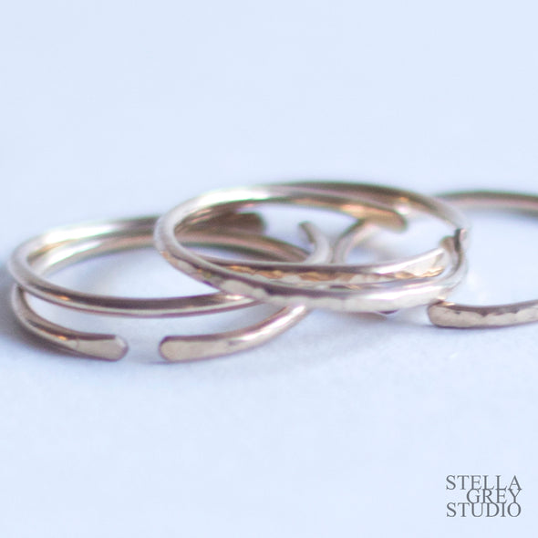 Gold Stacking Rings | Adjustable