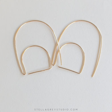 magic hour gold statement earrings