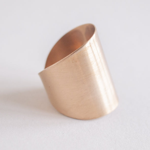 satin cuff ring bronze