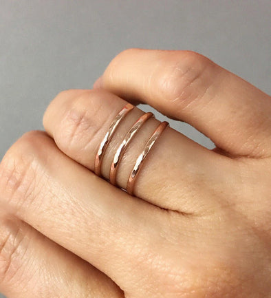 Rose Gold Spiral Ring