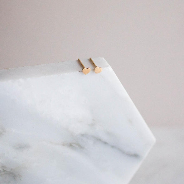 Sloane Tiny Heart Stud Earrings