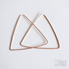 Gold triangle hoop earrings Rose gold earrings Triangle earrings Geometric threader earrings Birthday gift Statement earrings Dainty earrings Simple geometric earrings Stella grey studio BLACK FRIDAY SALE Triangle earrings, rose gold earrings, gold earrings, sterling silver earrings, rose gold geometric earrings, .925 sterling silver geometric earrings, girlfriend gift, wife gift, unique gift for her, boho earrings, festival jewelry, festival wear