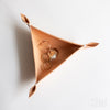 Triangle Leather Valet Tray | Natural