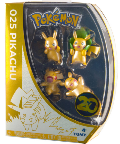 Pikachu 025 Figure Set © 2016 Pokemon 20th Anniversary Figure Pack, Set 2 of 2